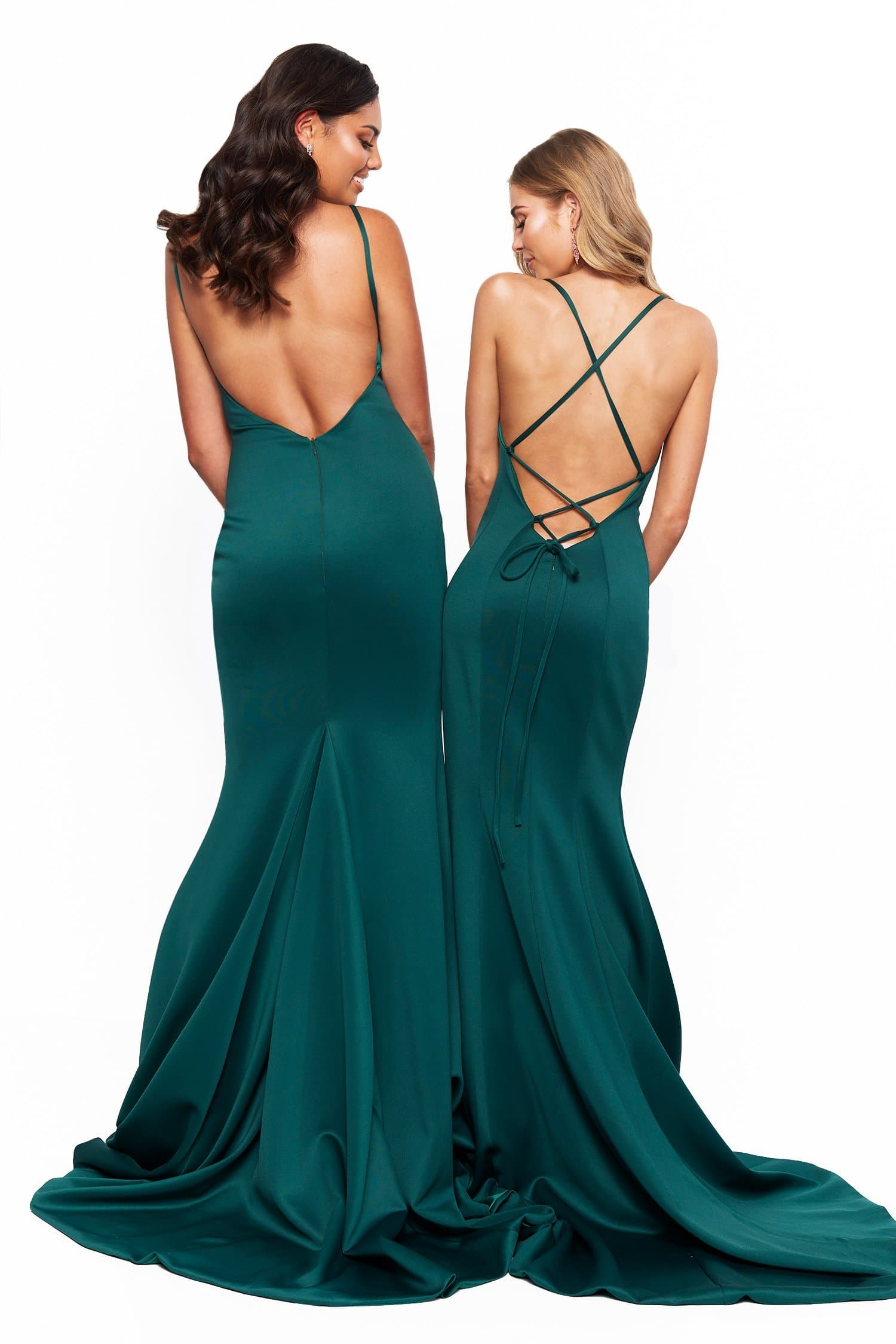 A&N Bridesmaids Jada Gown - Emerald