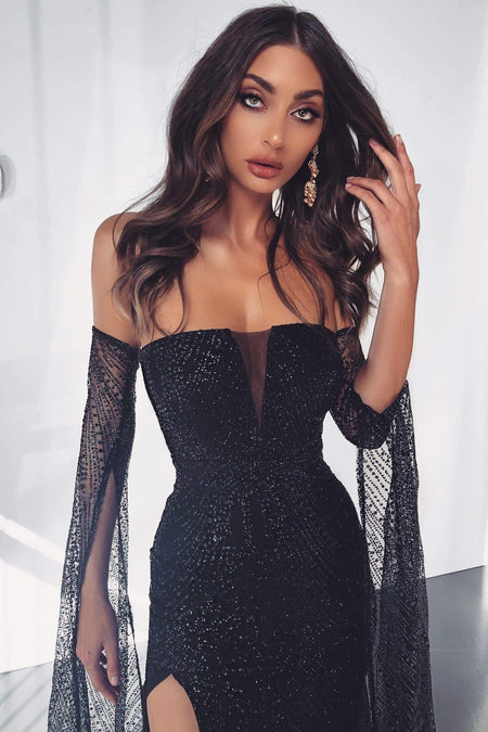 A&N Luxe Kora Sequin Gown - Black