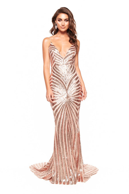 A&N Luxe Serena Sequin Gown - Black