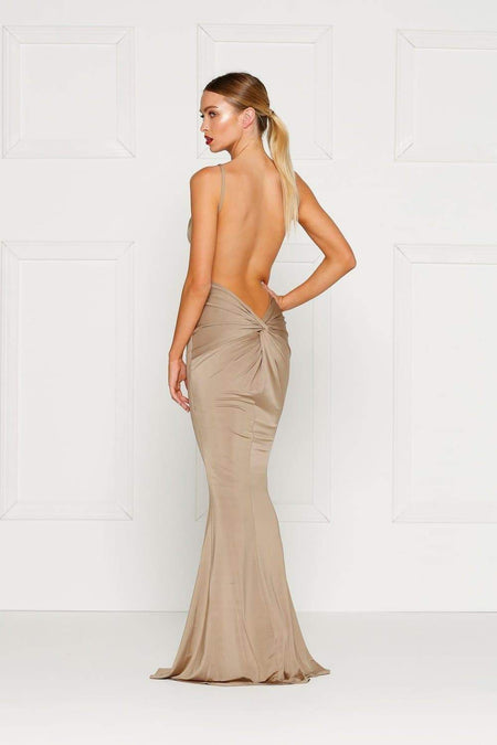 Joella Sheer Glitter Gown - Gold