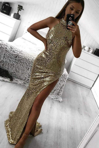 Saint Sequin Gown - Gold