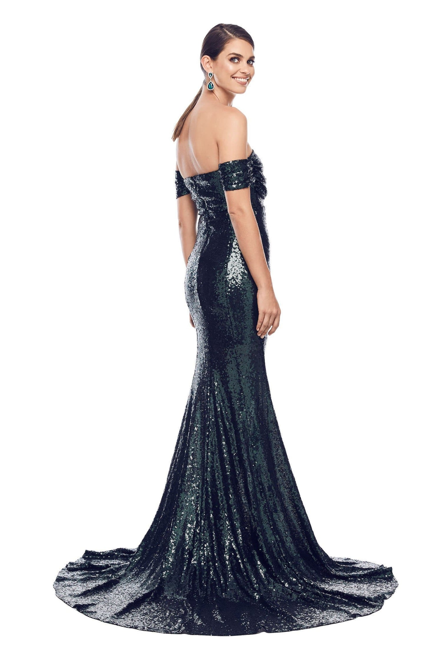 Silicya Sequin Gown - Emerald