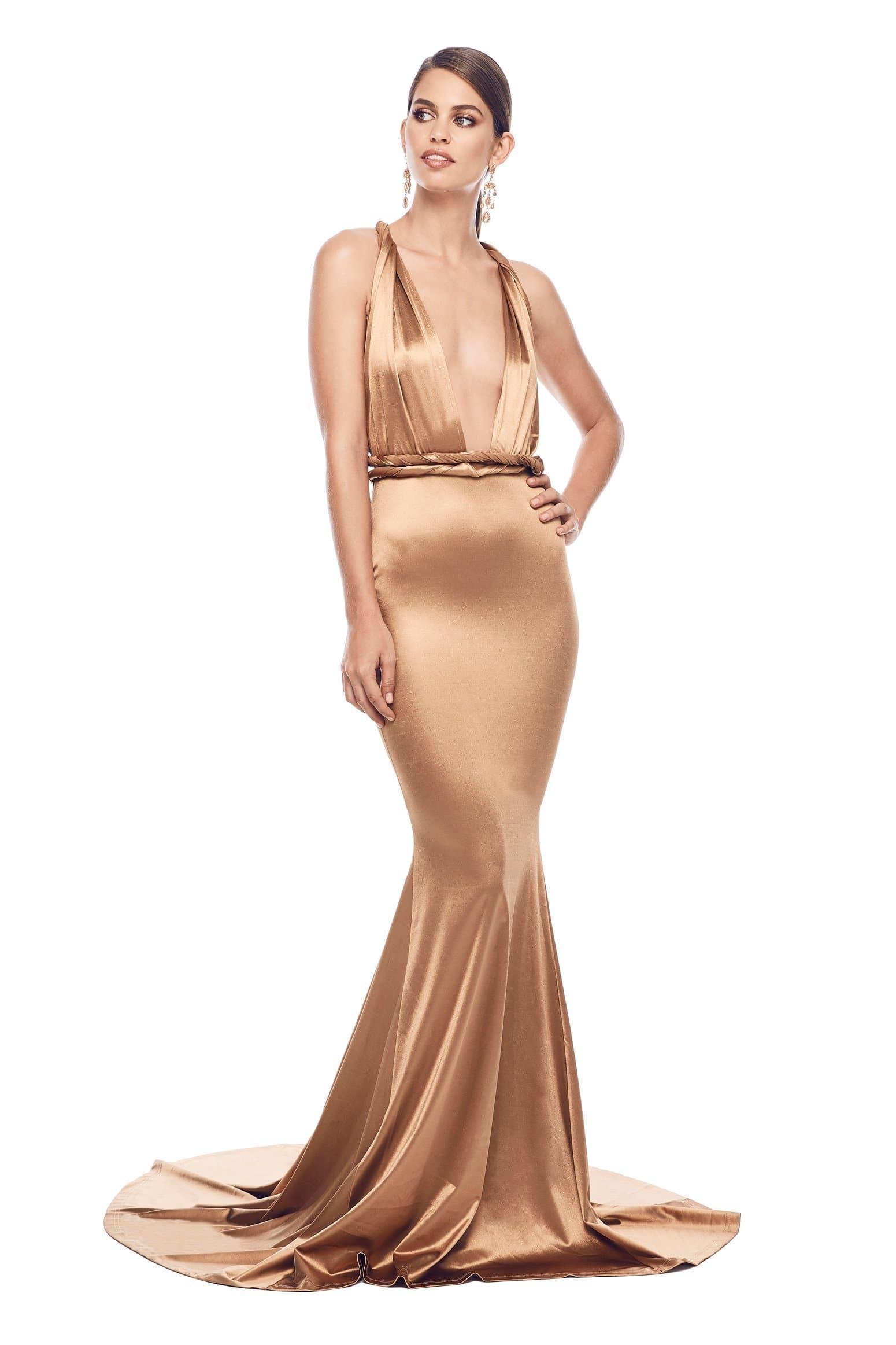 Lena Multiway Gown - Gold