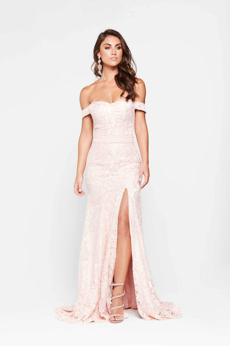 Crisantemi Satin Gown - Dusty Pink