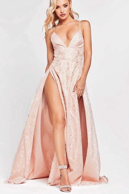 A&N Luxe Ayla Lace Gown - Blush