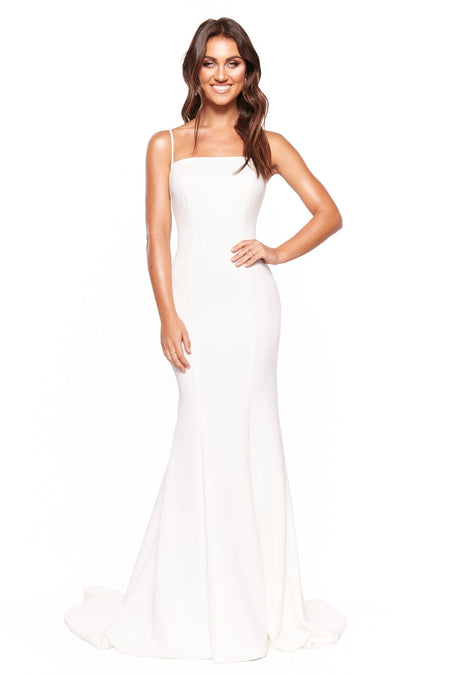 Layali Lace Gown - White