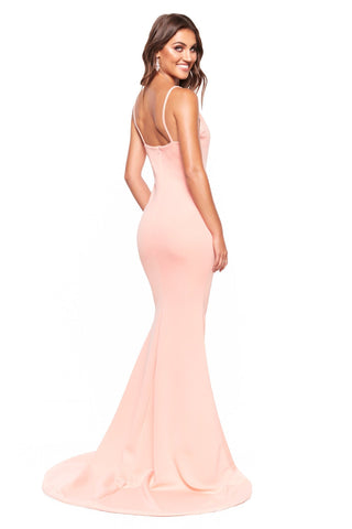 A&N Luxe Imani - Peach Mermaid Gown with Thin Straps