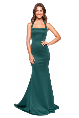 A&N Luxe Ariah - Emerald Halterneck Mermaid Gown
