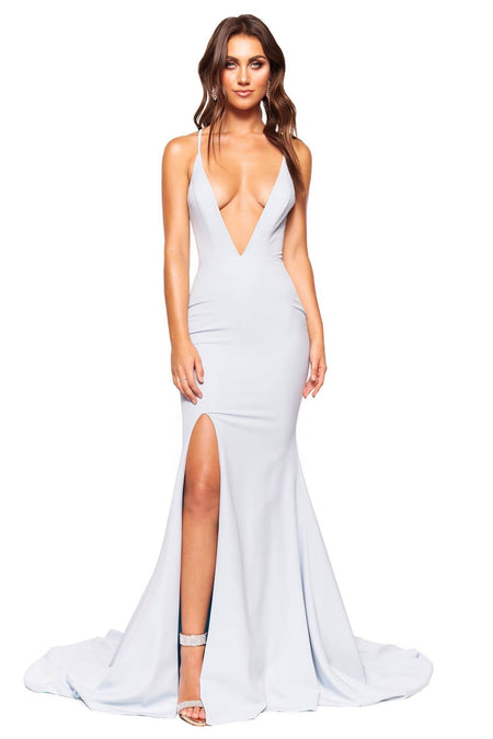 A&N Luxe Pia Shimmering Gown - Sky Blue