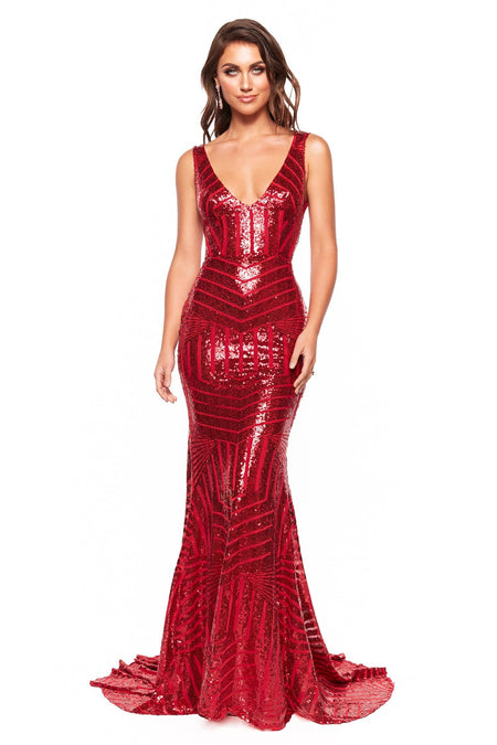 Pascala Satin Gown - Multiple Colours