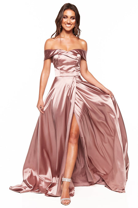 A&N Luxe Saina Glitter Gown - Rose Gold