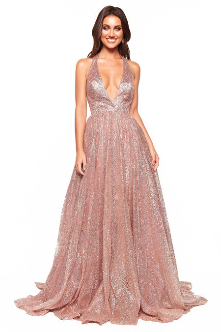 Layali Lace Gown - Plum