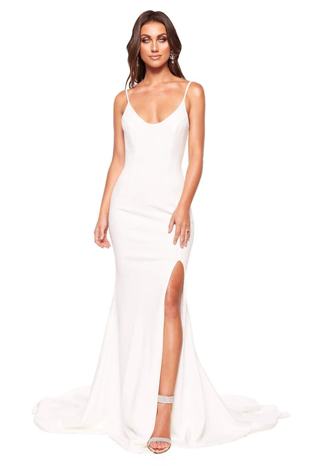 Jordyn Sequin Gown - White