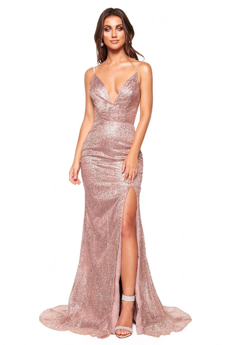 A&N Luxe Kara Sequin Gown - White