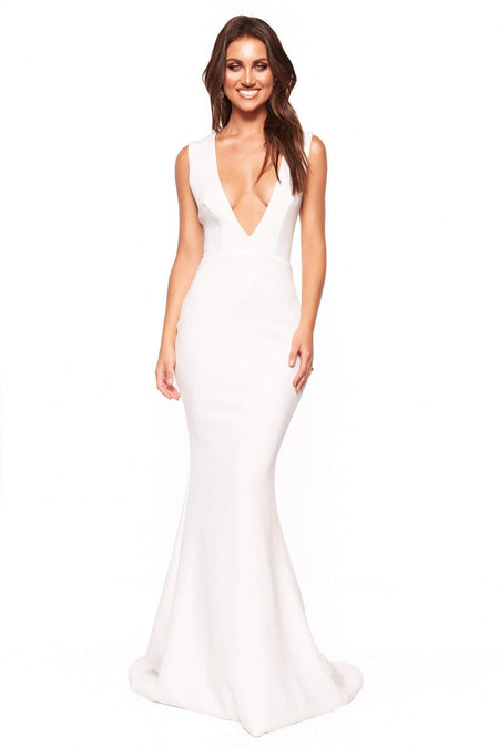 Luvena Sequin Gown - White