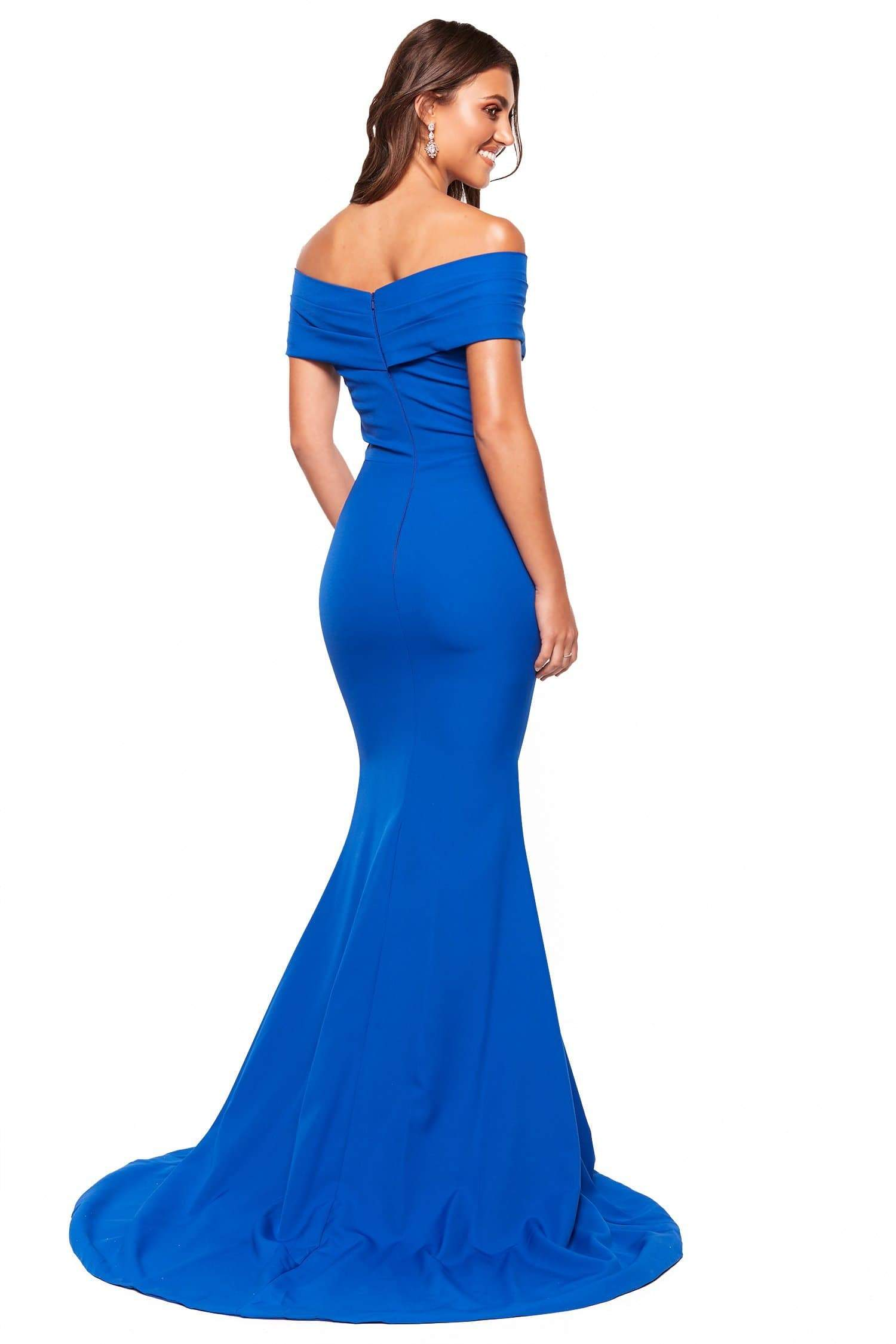 897fa636ad6 A N Luxe Jocelyn - Royal Blue Off-Shoulder Mermaid Gown – A N Luxe Label