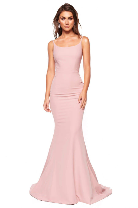A&N Luxe Ayana Satin Gown - Baby Pink
