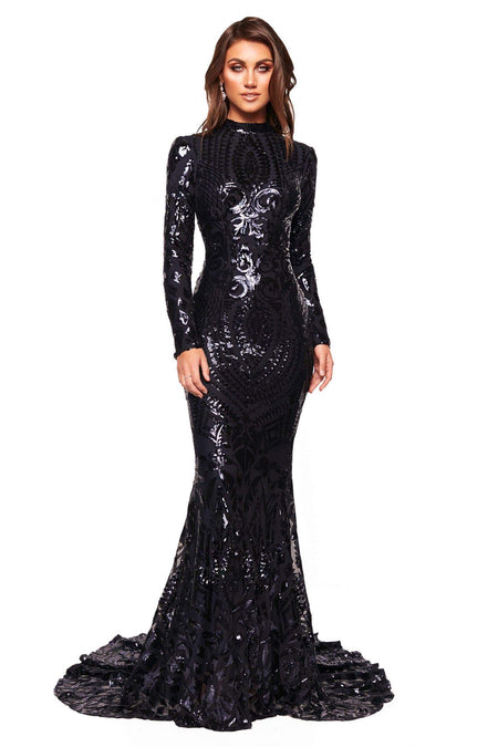 A&N Luxe Sheyla Sequin Gown - Rose Gold