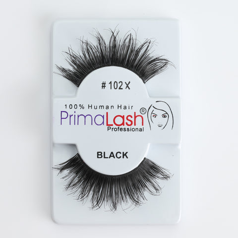 PrimaLash Professional 100% Human Hair Strip Lashes Style #102X (long)