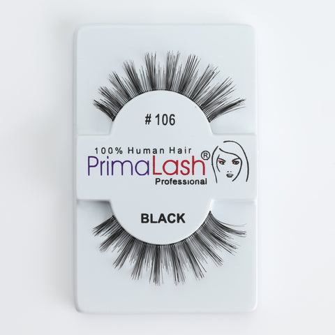 PrimaLash Professional 100% Human Hair Strip Lashes Style #106
