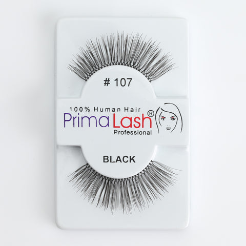 PrimaLash Professional 100% Human Hair Strip Lashes Style #107