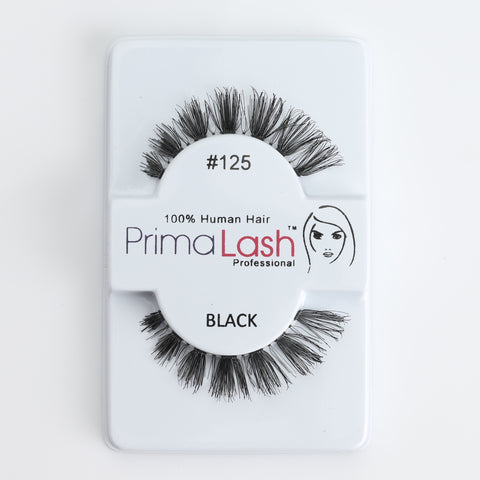 PrimaLash Professional 100% Human Hair Strip Lashes Style #125