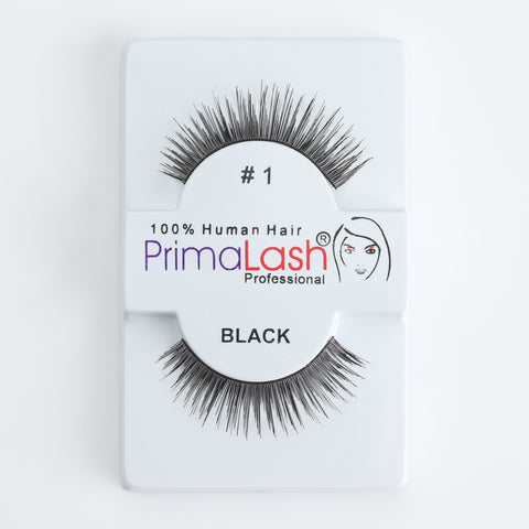 PrimaLash Professional 100% Human Hair Strip Lashes Style #1