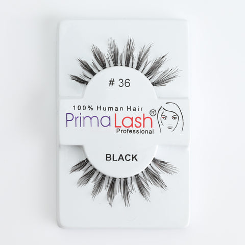 PrimaLash Professional 100% Human Hair Strip Lashes Style #36