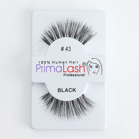 PrimaLash Professional 100% Human Hair Strip Lashes Style #43
