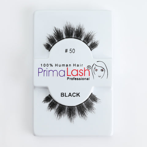 PrimaLash Professional 100% Human Hair Strip Lashes Style #50