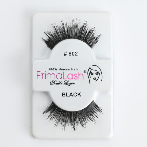 PrimaLash Professional 100% Human Hair Strip Lashes Style #802 (Double Layer Lash)