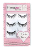 PrimaLash Basics 5 Pack Synthetic Strip Lashes Style #Elsa