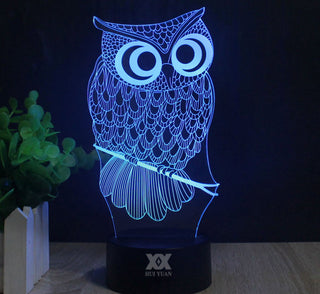 3D Color Changing Owl Lamp