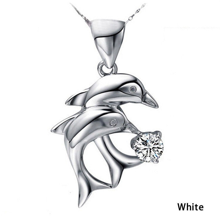 Silver dolphin pendant charm necklace duug store jewelry silver dolphin pendant charm necklace aloadofball Gallery