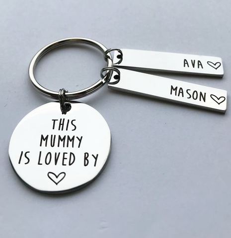 Personalised Mummy Keyring - Is Loved By