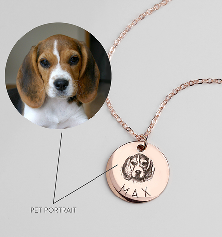Rose Gold Pet Necklace
