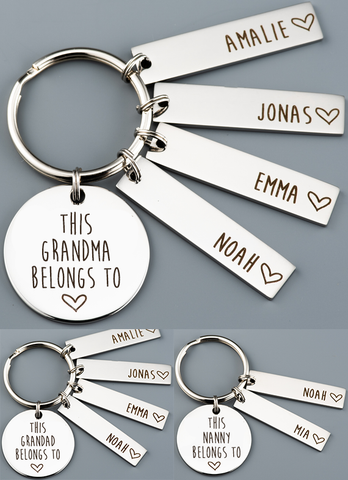 Personalised Grandparent Keyring
