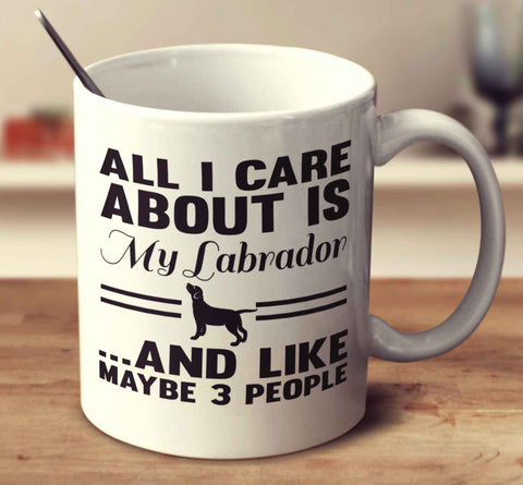 All I Care About Is My Labrador And Like Maybe 3 People