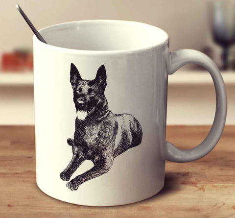 Dutch Shepherd Dog Sketch