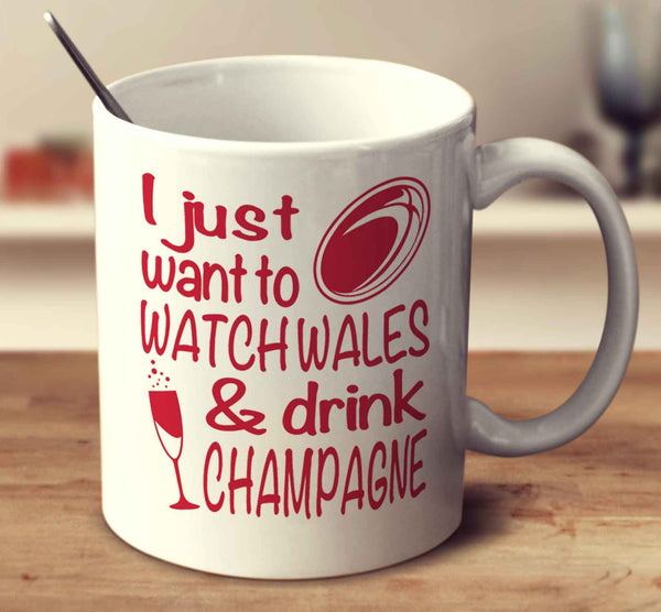 I Just Want To Watch Wales And Drink Champagne