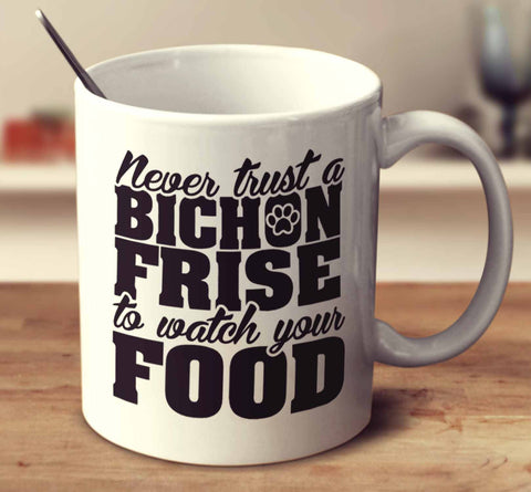 Never Trust A Bichon Frise To Watch Your Food