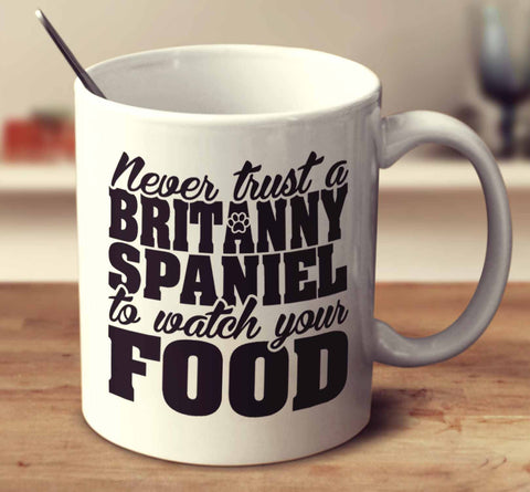 Never Trust A Brittany Spaniel To Watch Your Food