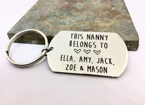 This Nanny Belongs To Custom Keyring