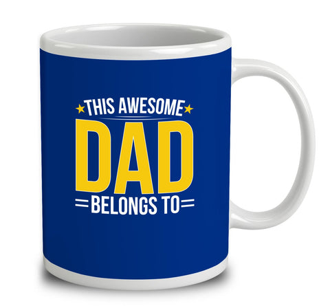 Personalised This Awesome Dad Belongs To