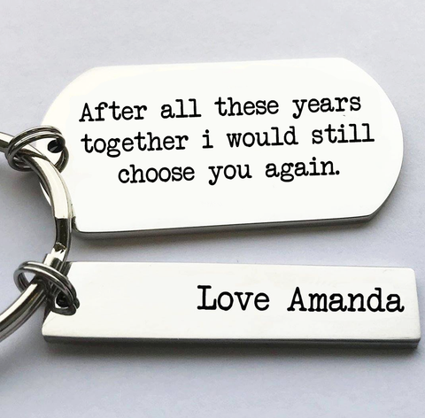 After all these years valentines keyring