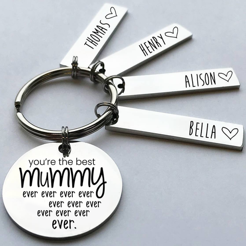 Personalised Best Mummy Keyring