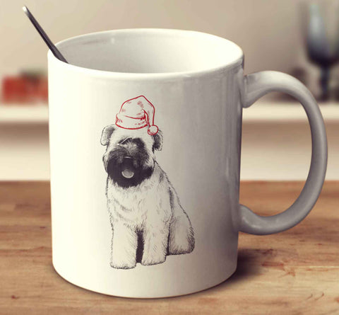 Christmas Soft-Coated Wheaten Terrier Sketch