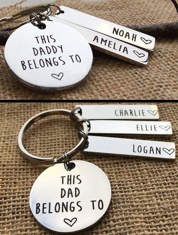 Personalised Daddy/Dad Keyring