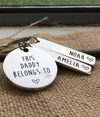 Personalised Daddy Keyring