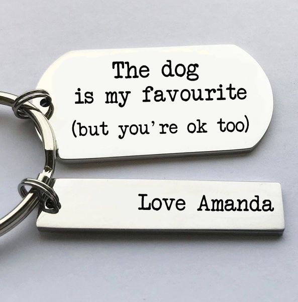 The Dog Is My Favourite Keyring